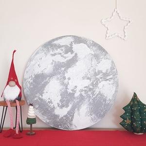 Hold festmény, Otthon & Lakás, Dekoráció, Kép & Falikép, Festészet, Címe: Az én holdam \nMindenkinek van nem csak egy saját csillaga, hanem egy saját holdja is. Olyan ho..., Meska