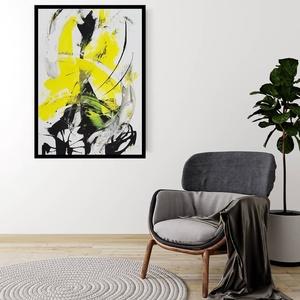 Absztrakt festmény, Művészet, Festmény, Akril, Festészet, Akril festékkel készült absztrakt festmény. A festmény keretezetlen, akasztóval ellátva kerül postáz..., Meska