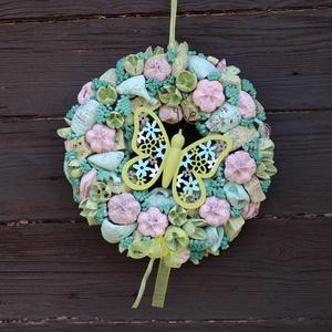 Pillangós ajtódísz, Otthon & Lakás, Dekoráció, Ajtódísz & Kopogtató, Virágkötés, Meska