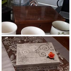 Vintage dobozka, Otthon & Lakás, Díszdoboz, Dekoráció, Festett tárgyak, Meska