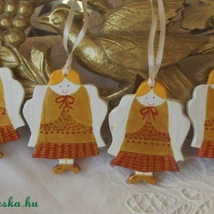 Angyalsereg - Karácsonyfadíszek fából (Anasztazia) - Meska.hu