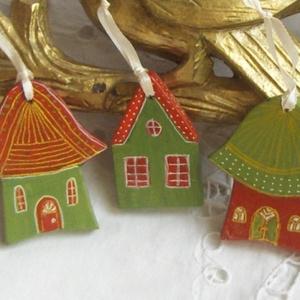 Nádfedeles házacska- Karácsonyfadísz (Anasztazia) - Meska.hu