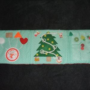 Karácsonyi csendeskönyv, Gyerek & játék, Játék, Baba játék, Készségfejlesztő játék, Varrás, Könyv külső mérte: 17, 5 cm magas és 53 cm széles. \nÖsszesen 3 oldalból áll.  \nVetexel és vatelinnel..., Meska