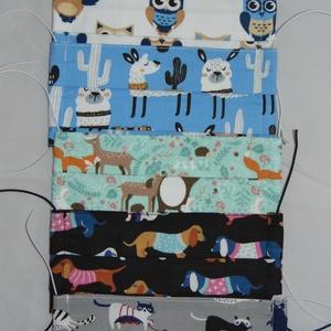 Textil maszk csomag, Gyerek & játék, NoWaste, Textilek, Táska, Divat & Szépség, Szépség(ápolás), Maszk, szájmaszk, Varrás, Pamutból készült felnőtt kétrétegű textil szájmaszk. Kívül mintás belül sima fehér pamutvászon.\nMasz..., Meska