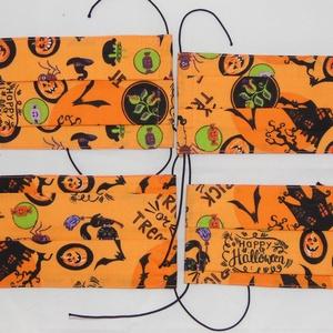Textil maszk csomag, Ruha & Divat, Maszk, Arcmaszk, Női, Varrás, Szülő gyermek szájmaszk páros. Pamutból készült kétrétegű textil szájmaszk. Kívül mintás belül sima ..., Meska