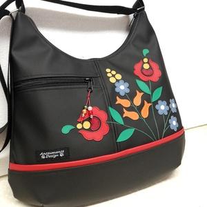 MAXI  kalocsai virágos textilbőr pakolós táska (ancsumancs) - Meska.hu