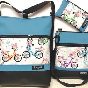 Egyedi anya lánya biciklis táska szett ajándék neszesszerrel, Táska, Divat & Szépség, Táska, Egyéb, Hátizsák, Varrás, Egyedi szett,nem lesz belőle több!\nAnya lánya biciklis táska szett,de ha nincs lányod akkor tartsd m..., Meska