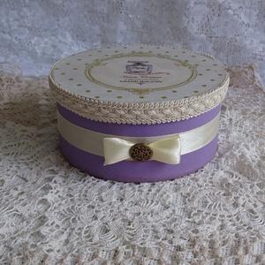Kör alakú Vintage doboz (Andartdecoration) - Meska.hu