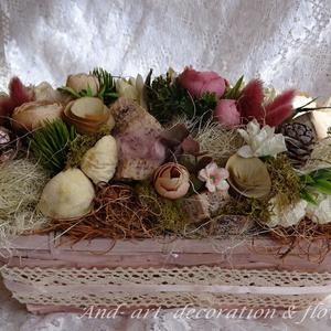 Tavaszi mályva asztaldísz (Andartdecoration) - Meska.hu
