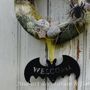 Halloweenre..Ajtódísz, dekoráció. (Andartdecoration) - Meska.hu