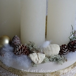 Advent-aranyban.Adventi box, Adventi koszorú. (Andartdecoration) - Meska.hu
