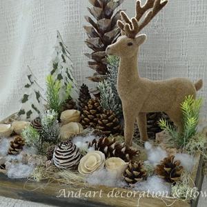 Az erdő télen. Ünnepi dekoráció (Andartdecoration) - Meska.hu
