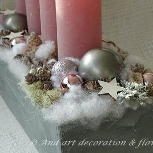 Modern asztali adventi koszorú. (Andartdecoration) - Meska.hu