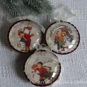 Vintage karácsonyfa dísz (Andartdecoration) - Meska.hu