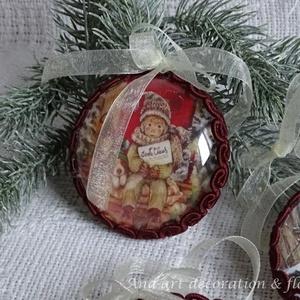 Vintage karácsonyfa dísz - Meska.hu