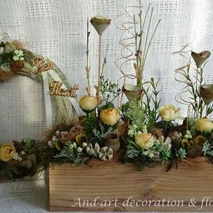 Tavaszi barack virág. Tavaszi asztaldísz,kopogtató szettben. (Andartdecoration) - Meska.hu