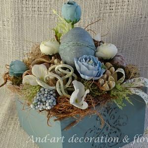 Tavasz vintage hangulatban...Tavaszi asztaldísz.Húsvéti asztaldísz. (Andartdecoration) - Meska.hu