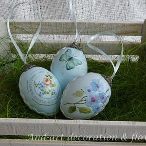 Húsvéti tojás kékben. (Andartdecoration) - Meska.hu
