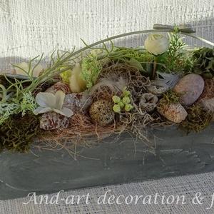 Tavaszi modernitás asztaldísz. Tavaszi,húsvéti asztaldísz. (Andartdecoration) - Meska.hu