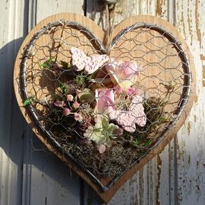 Modern tavaszi-nyári ajtódísz, fali dekoráció.                    , Otthon & Lakás, Dekoráció, Falra akasztható dekor, Virágkötés, Famegmunkálás,  Minőségi 2 cm vastag  tömör cseresznyefából készítettük ezt a modern fali díszt ,kopogtatót. Meghag..., Meska