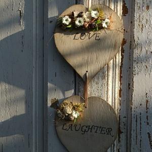 Romantikus, tavaszi ajtódísz,otthondísz . (Andartdecoration) - Meska.hu