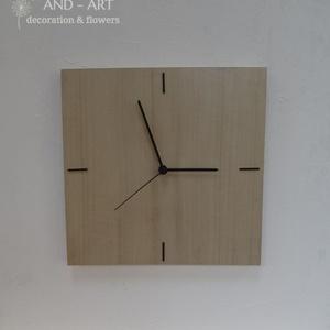 Modern falióra, különleges fafajból., Lakberendezés, Otthon & lakás, Falióra, óra, Famegmunkálás, Modern, letisztult stílusban készített fali óra. Különleges fafajok minőségi furnérjából készült. Se..., Meska