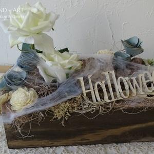 Halloween Party dekoráció, asztaldísz., Otthon & lakás, Dekoráció, Ünnepi dekoráció, Lakberendezés, Asztaldísz, Szerettem volna a rémisztő hatást elkerülni, így egy szolid de ütős asztaldísz készült halloween-re...., Meska