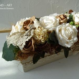 Roses- vintage őszi asztaldísz, dekoráció. (Andartdecoration) - Meska.hu