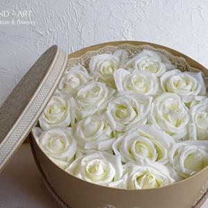 Nagyméretű romantikus virágdoboz. (Andartdecoration) - Meska.hu
