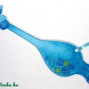 Kék zsiráf könyvjelző (andidea) - Meska.hu