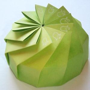 Különleges, világoszöld papírdoboz (andidea) - Meska.hu