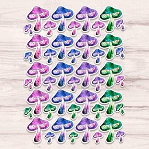 Mágikus gombák matrica szett - gombás matricák, Készségfejlesztő & Logikai játék, Játék & Gyerek, Papírművészet, Fotó, grafika, rajz, illusztráció, Fényes felületű mágikus gombák matrica szett beltéri felhasználásra. Kiváló minőségű 135g-s fényes f..., Meska