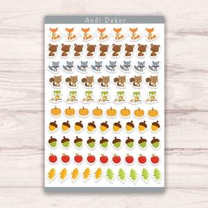 Erdei állatkás matricák - sorminta matrica szett, őszi állatos minták, Falmatrica & Tapéta, Dekoráció, Otthon & Lakás, Papírművészet, Fotó, grafika, rajz, illusztráció, Egyedi készítésű őszi erdei állatos sorminta matricák AndiDekor mini műhelyéből, kiváló alapanyagokb..., Meska