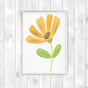 Virágos dekor poszter gyerekszobába - virágos falikép, Otthon & Lakás, Dekoráció, Kép & Falikép, Fotó, grafika, rajz, illusztráció, Papírművészet, Virágos gyerekszoba dekor poszter A4 méret. Virágos falikép\n\nGyerekszoba dekorálásához, falra, vagy ..., Meska