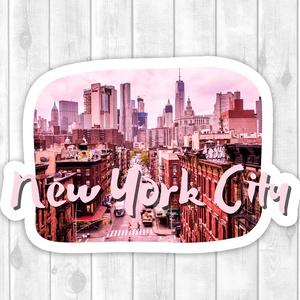 New York City - Scrapbook matrica, DIY (Csináld magad), Egységcsomag, Fotó, grafika, rajz, illusztráció, Papírművészet, Fényes felületű New York City matrica beltéri felhasználásra. Kiváló minőségű 135g-s fényes felületű..., Meska