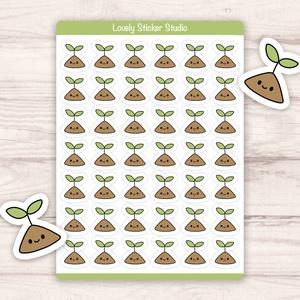 Mini növény hajtás matricák - Scrapbook, Bullet Journal matrica, DIY (Csináld magad), Egységcsomag, Fotó, grafika, rajz, illusztráció, Papírművészet, Egyedi készítésű mini növény hajtás matricák AndiDekor mini műhelyéből, kiváló alapanyagokból és csu..., Meska