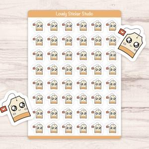 Mini tea filter matricák - Bullet journal, scrapbook matrica, DIY (Csináld magad), Egységcsomag, Fotó, grafika, rajz, illusztráció, Papírművészet, Egyedi készítésű mini tea filter matricák AndiDekor mini műhelyéből, kiváló alapanyagokból és csupa ..., Meska