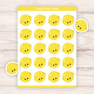 Citromos matricák - mosolygós citromok, Otthon & Lakás, Papír írószer, Naptár & Tervező, Fotó, grafika, rajz, illusztráció, Papírművészet, Egyedi készítésű citromos matricák AndiDekor mini műhelyéből, kiváló alapanyagokból és csupa szívvel..., Meska