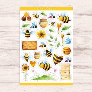 Méhecskés matricák, Otthon & Lakás, Papír írószer, Jegyzetfüzet & Napló, Fotó, grafika, rajz, illusztráció, Papírművészet, Meska