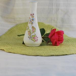Cirádás mini váza - Meska.hu