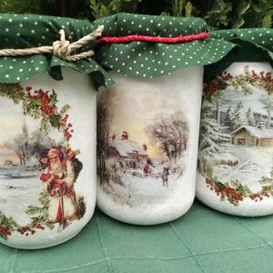 Adventi üvegek, Otthon & lakás, Dekoráció, Ünnepi dekoráció, Karácsonyi, adventi apróságok, Adventi naptár, Karácsonyi dekoráció, Lakberendezés, Decoupage, transzfer és szalvétatechnika, Festett tárgyak, Az adventi meglepetés ezúttal nem csoki!\n24 üzenetet találsz az üvegekben, hogy mindennap melengessé..., Meska