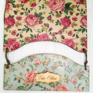 Rózsás ajtódísz, Ajtódísz & Kopogtató, Dekoráció, Otthon & Lakás, Decoupage, transzfer és szalvétatechnika, A nyár kedvencei! Kétrészes rózsás ajtódísz.\nMérete: 29x23 cm.\nKöszönöm, hogy nézelődsz a boltomban!..., Meska