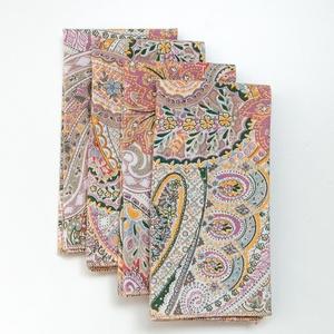 4 vagy 6 db modern mintás textil szalvéta a karácsonyi asztalra újrahasznosított, puha pamutból
