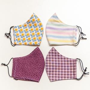 4 db Szájmaszk családi készlet: férfi, női és gyerek méretben - mosható pamut anyagból - többször használható arcmaszk  (andindadesign) - Meska.hu