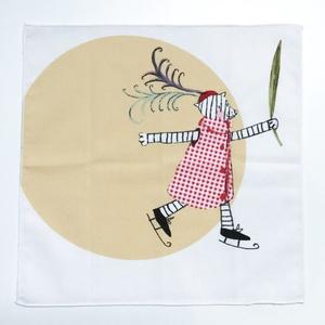 Puha, nagyméretű textil zsebkendő vagy szalvéta mesemintás pamutból lányoknak, fiúknak, gyerekeknek, Ruha & Divat, Sál, Sapka, Kendő, Varrás, Mese illusztrációval díszített mosható  textil zsebkendő kis- és nagylányoknak, kis és nagyfiúknak k..., Meska