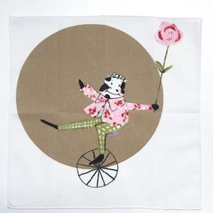Nagyméretű textil zsebkendő vagy szalvéta gyerekeknek mesemintás pamutból lányoknak, fiúknak, gyerekeknek, Ruha & Divat, Sál, Sapka, Kendő, Varrás, Mese illusztrációval díszített mosható  textil zsebkendő kis- és nagylányoknak, kis és nagyfiúknak k..., Meska