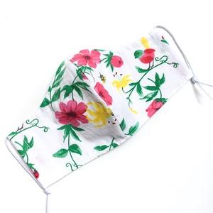 Tavaszi Virágos nőies szájmaszk mosható pamutból - arcmaszk opcionális dróttal felnőtt, kislány, női és gyerek méretben - Meska.hu