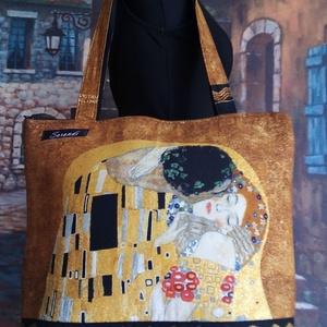 Gustav Klimt táska, Táska, Divat & Szépség, Táska, Válltáska, oldaltáska, Varrás, Gyönyörű színösszetételű vászonanyagból készült ez a csodaszép táska.Főleg annak ki szereti ezeket a..., Meska