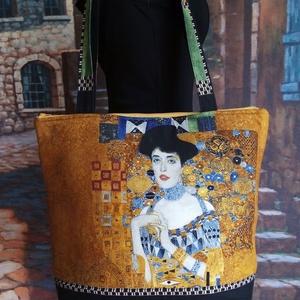 Gustav Klimt női arcképes táska, Táska, Divat & Szépség, Táska, Válltáska, oldaltáska, Varrás, Gyönyörű színösszetételű vászonanyagból készült ez a csodaszép táska.Főleg annak ki szereti ezeket a..., Meska