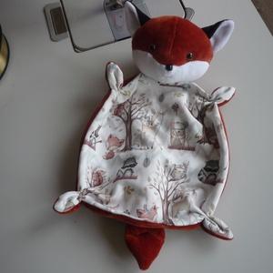 Róka alvóka, Játék & Gyerek, 3 éves kor alattiaknak, Alvóka & Rongyi, Kiváló minőségű bébiplüssökből, és mintás szabadidő anyagból varrtam ezt az ártatlan róka figurát. N..., Meska